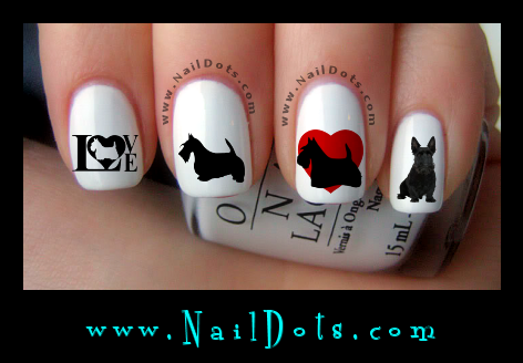 Scottish Terrier Nail Decals