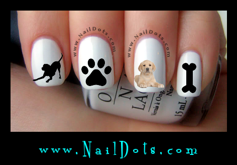 Yellow Lab Nail Decals