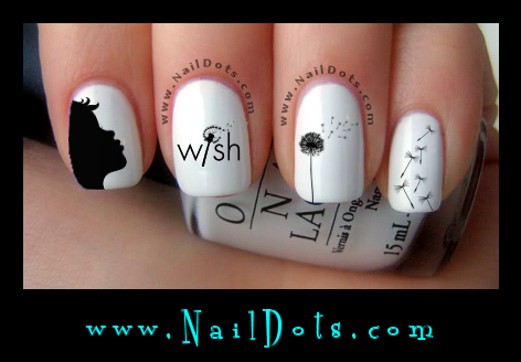 Dandelion Wish Nail Decals