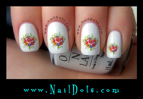 Flower Bouquet Nail Decals