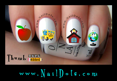 Back to School Nail Decals
