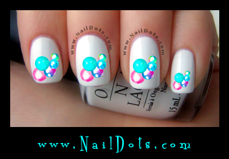 Colorful Bubble Nail Decals