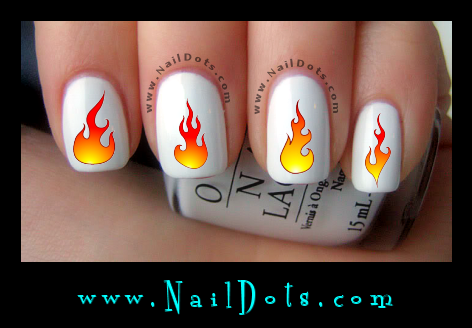 Flame Nail Decals