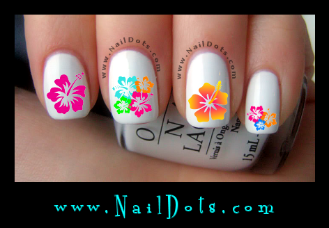 Hibiscus Nail Decals
