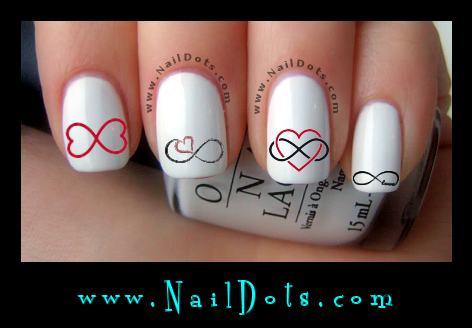 Infinity Heart Nail Decals