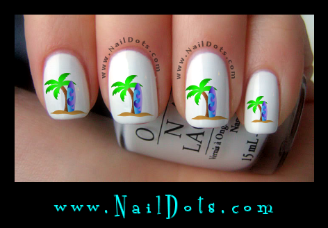 Surf Board Nail Decals