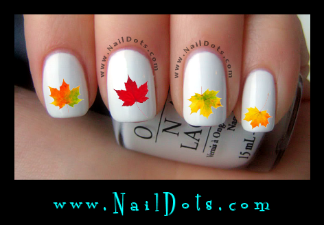 Fall Leaves Nail Decals