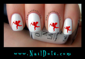 Cupid Nail Decals