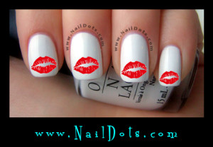 Lips in a Kiss Nail Decals