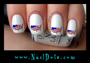 US Flag Nail Decals