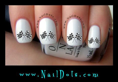 Checkered Flag nail decals