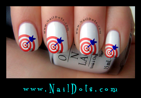 Dart Board Red nail decals