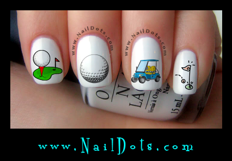 golf nail decals