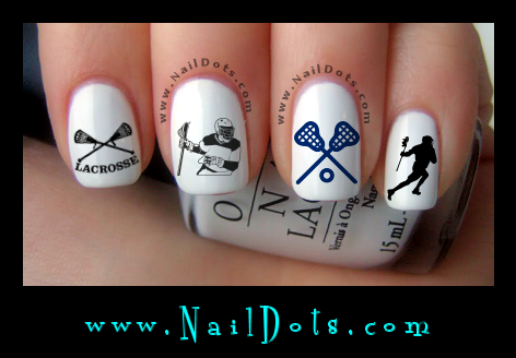 Lacrosse nail decals