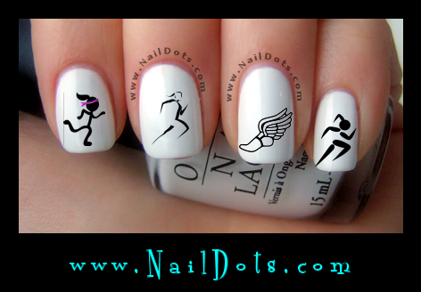 Running Girl nail decals