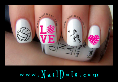 volleyball nail decals