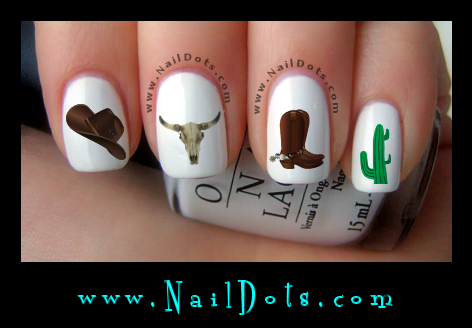 Western Nail Decals