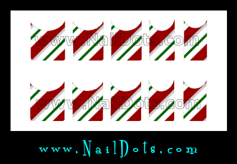 Candy Cane Green Nail Tips