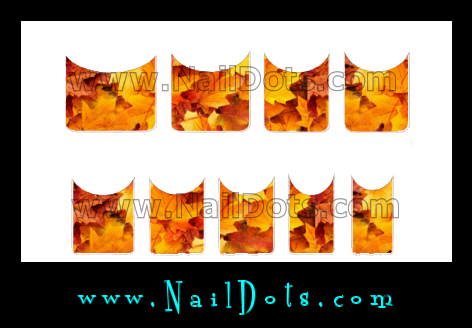 Fall Leaf  Nail Tips