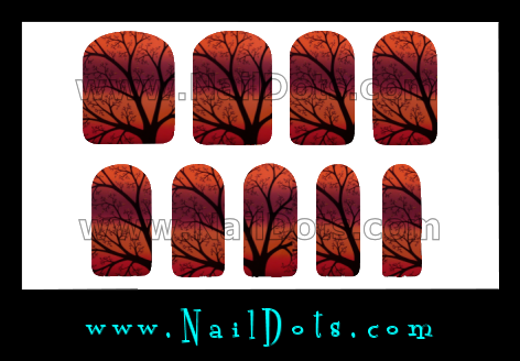 Fall Tree Nail Wraps