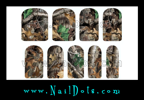 Traditional Camo Nail Wraps
